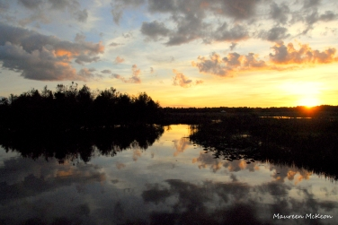 Green Cay Wetlands sunset