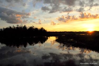 Green Cay Wetlands sunset
