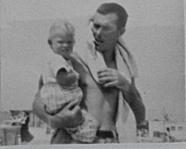 Dad and I at Jersey Shore, circa 1955