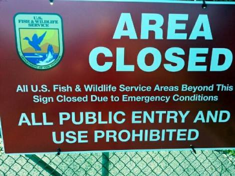 Loxahatchee Wildlife area closed due to govt. shutdown.